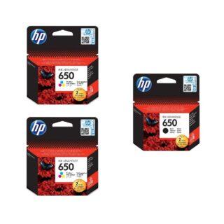 HP 650 Black Ink Cartridge Combo Pack