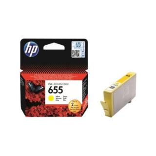 HP 655 Yellow Ink Original Cartridge (CZ112AE)