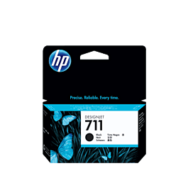 HP 711 Black Ink Cartridge 38ml
