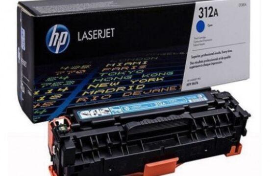 HP 312A Cyan Original LaserJet Toner Cartridge (CF381A)