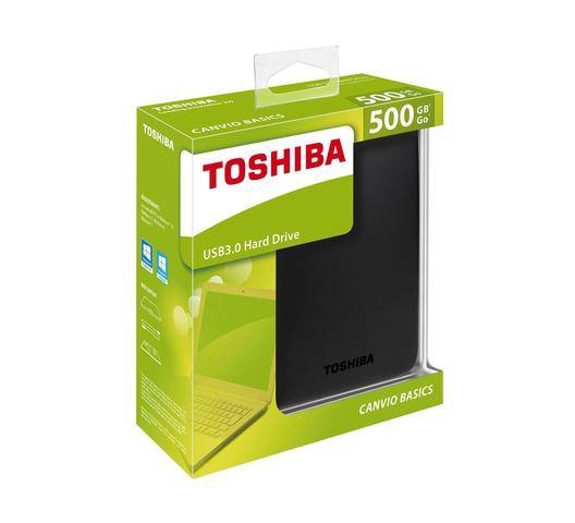 Toshiba Hard Drive 500GB Canvio Basics External USB 3.0 Black