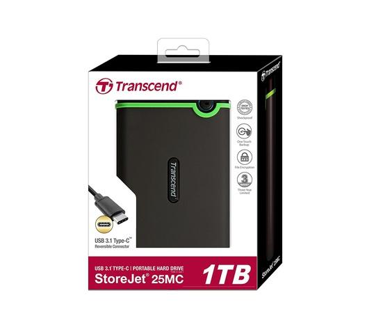 Transcend Storejet 25M3 3.1 External Hard Drive 3.0 USB 1 TB memory
