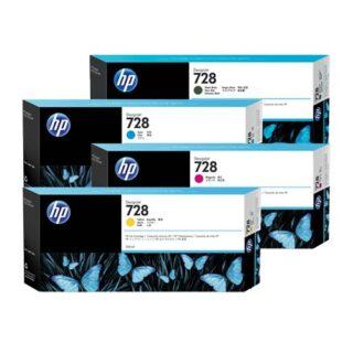 HP 728 Yellow Magenta High Capacity Ink Cartridge Multipack